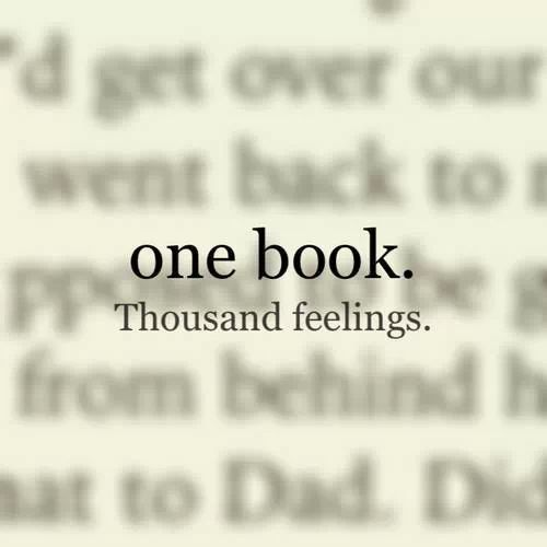 1 book. 1000 feelings.