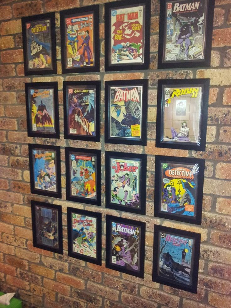 This is what we're doing with Hubby's 1970's 'Wanted' comic book series. Nine comic books in black frames! Gonna look AWESOME