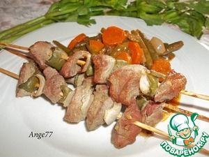 Мини-шашлыки из свинины Не всегда удается выбраться на природу на выходные. Поэтому предлагаю вкусные и сочные мини-шашлыки из свиного филе в духовке.