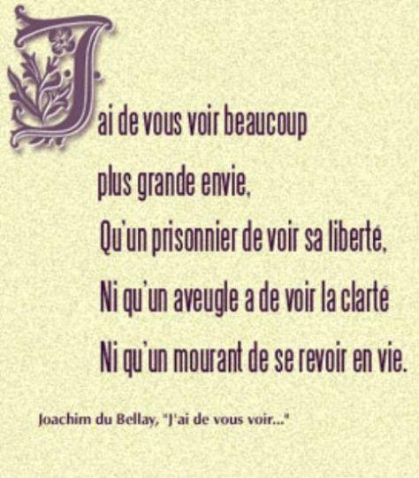 """Poème d'amour """"Joachim du Bellay"""", envoyez cette carte virtuelle"""