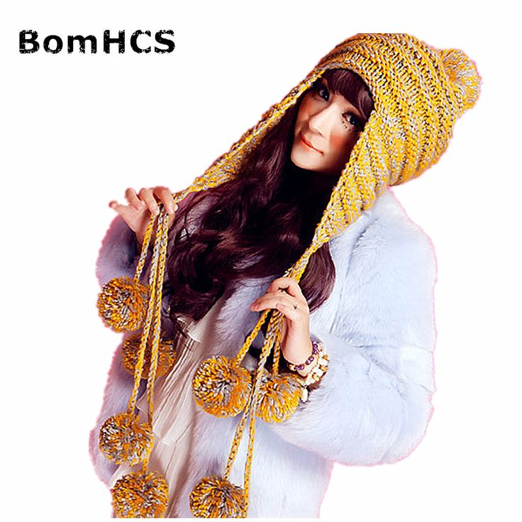 >> Click to Buy << BomHCS New Fashion Designer Beanies Winter Hat with Ears Warm Beanie Girl Hats with 9 Poms #Affiliate