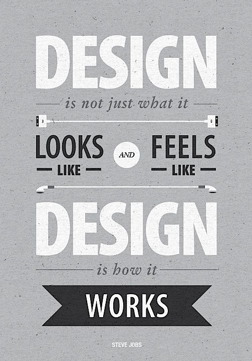 Design Is Not Just What It Looks Like And Feels How Works