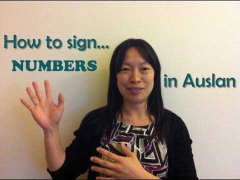 ▶ How to SIGN NUMBERS in Auslan (Australian Sign Language) - YouTube