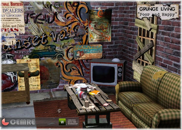 Cemreu0027s Grunge Living Poor And Happy · Grunge StyleLiving Room  SetsFurniture SetsInteriorHappyBohoHipsterPunkSims 3 Part 67