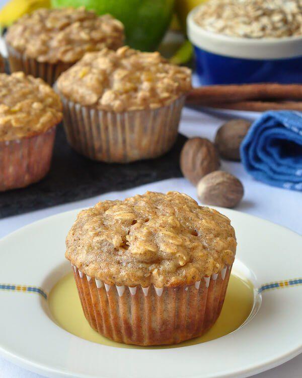 Oatmeal Apple Banana Low Fat Muffins