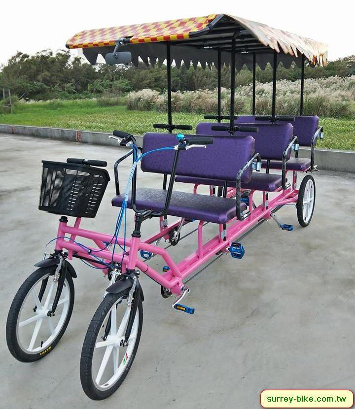 A beautiful 6 person Surrey Bike Bike toy, Tricycle bike