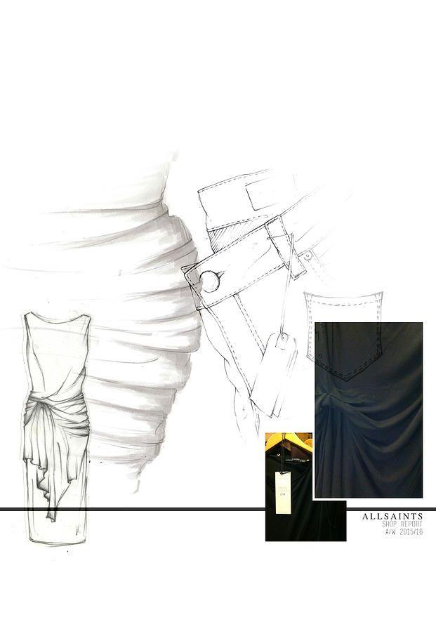 BOONSITA SINGHTOTHONG | ALLSAINTS: DUTY.  fashion design, fashion, portfolio, layout, art, drawing, sketching