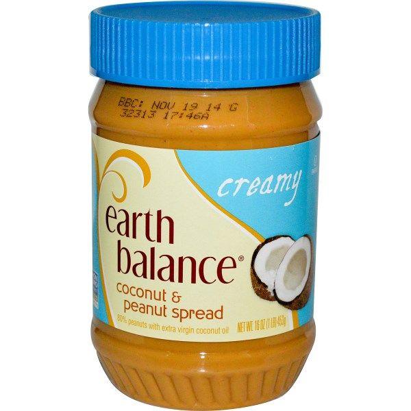 Earth Balance, Кокосово-арахисовая паста, сливочная, 16 унций (453 гр)