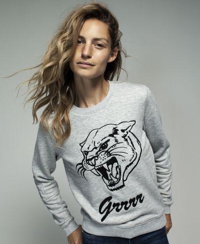 Zoe Karssen Grrrr Sweatshirt - Heather Grey. Available at Shop-Label.com #zoekarssen #SS15