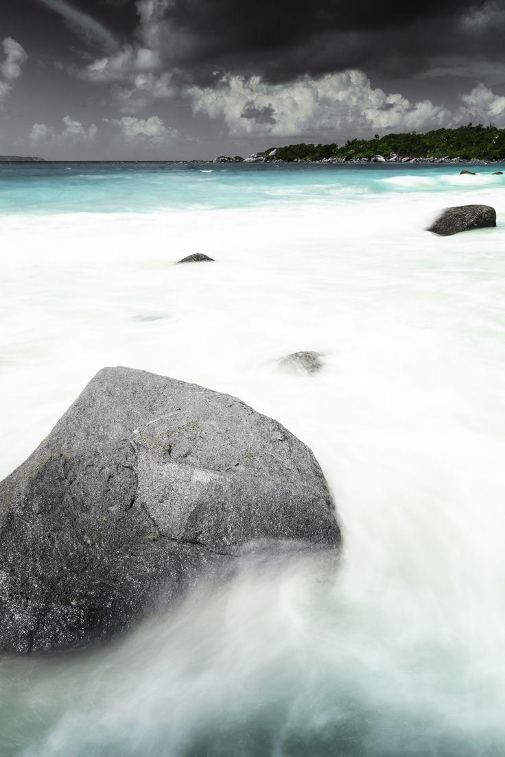 rock on the beach