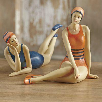 52 best Vintage bathing beauty figurines images on ...