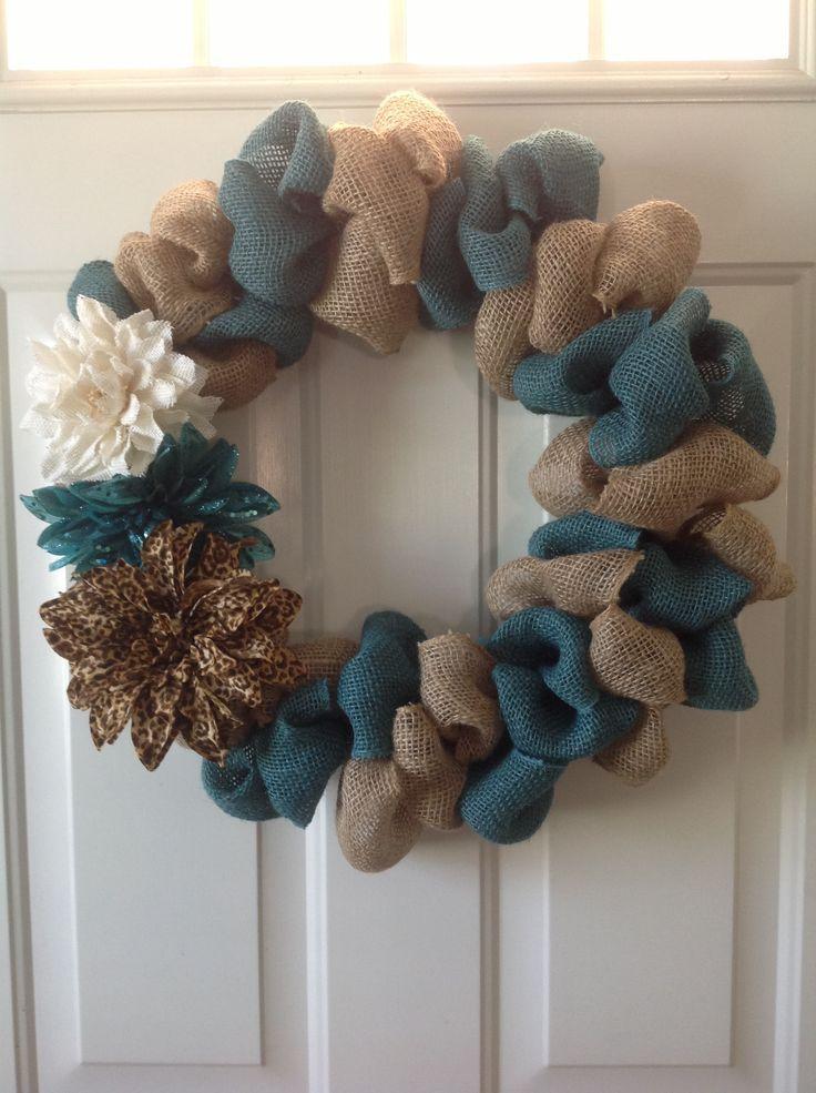 burlap wreath | Two toned bubble burlap wreath | DIY