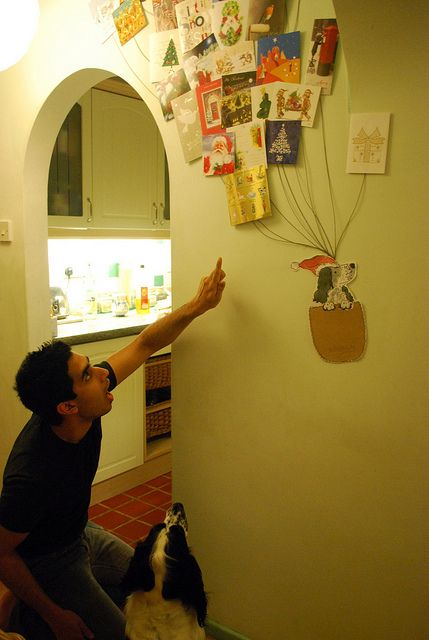 Christmas Card Display Idea by Charlie Fothers, via Flickr