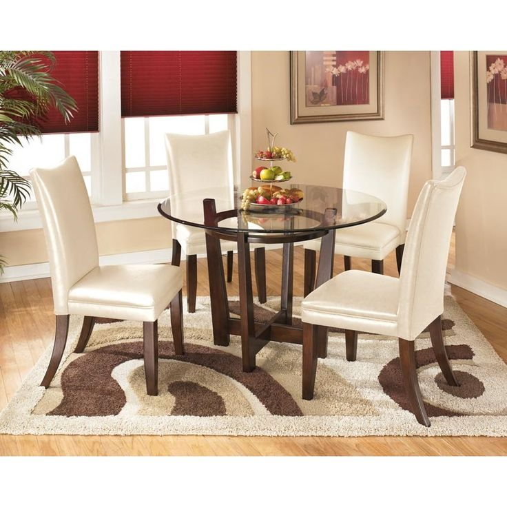Charrell, Charrell Round Pedestal Table Dining Room Set (Ivory Chairs), Dining  Room Table Sets, Bedroom Furniture, Curio Cabinets And Solid Wood Furniture  ...