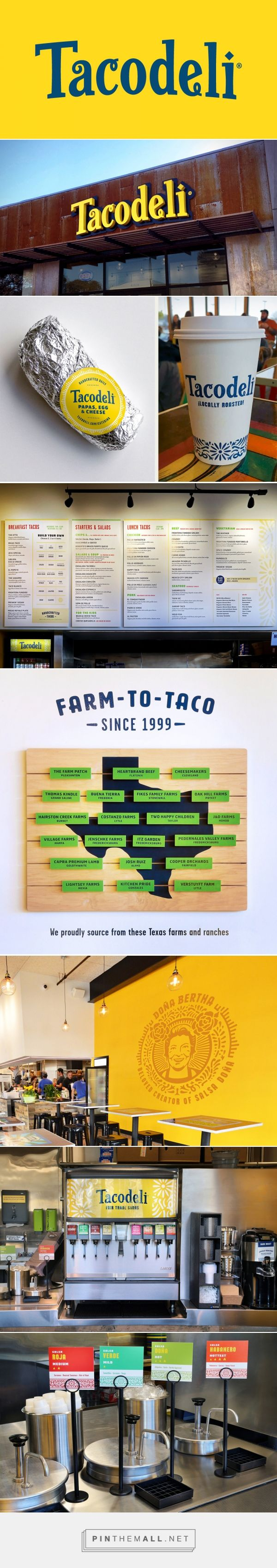 Brand New: New Logo and Identity for Tacodeli by The Butler Bros - created via https://pinthemall.net