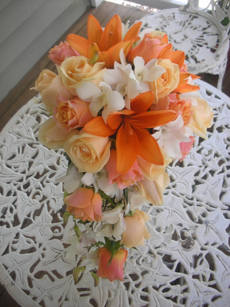 Wedding Flowers By Natalina Teardrop Bouquet Roses Singapore
