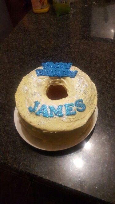 Birthday cake .... simple happy birthday with glitter
