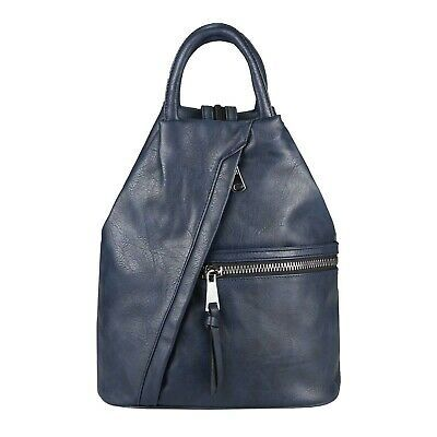DAMEN RUCKSACK TASCHE Daypack Leder Optik Backpack Cityrucksack Schultertasche: … – Italyshop24.com
