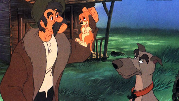 """Day 14: My favorite villain is Amos Slade from """"The Fox and the Hound"""".  In all honesty he'd be a sweet if a bit grumpy old man if he hadn't developed this obsession with one troublesome fox.  He's a hunter, and yet you see how much he loves his dogs and how humourous he really can be when he lets his guard down."""