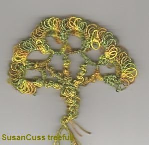 GeorgiaSeitz.com: Susan Cuss Free-Form Tatted Tree - free pattern #tatting #tree