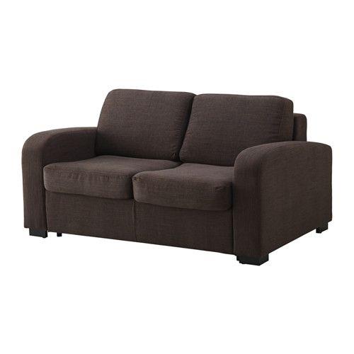 ИНГЕЛЬСТАД / ЛЭННЭС Диван-кровать 2-местный - Хенста темно-коричневый - IKEA