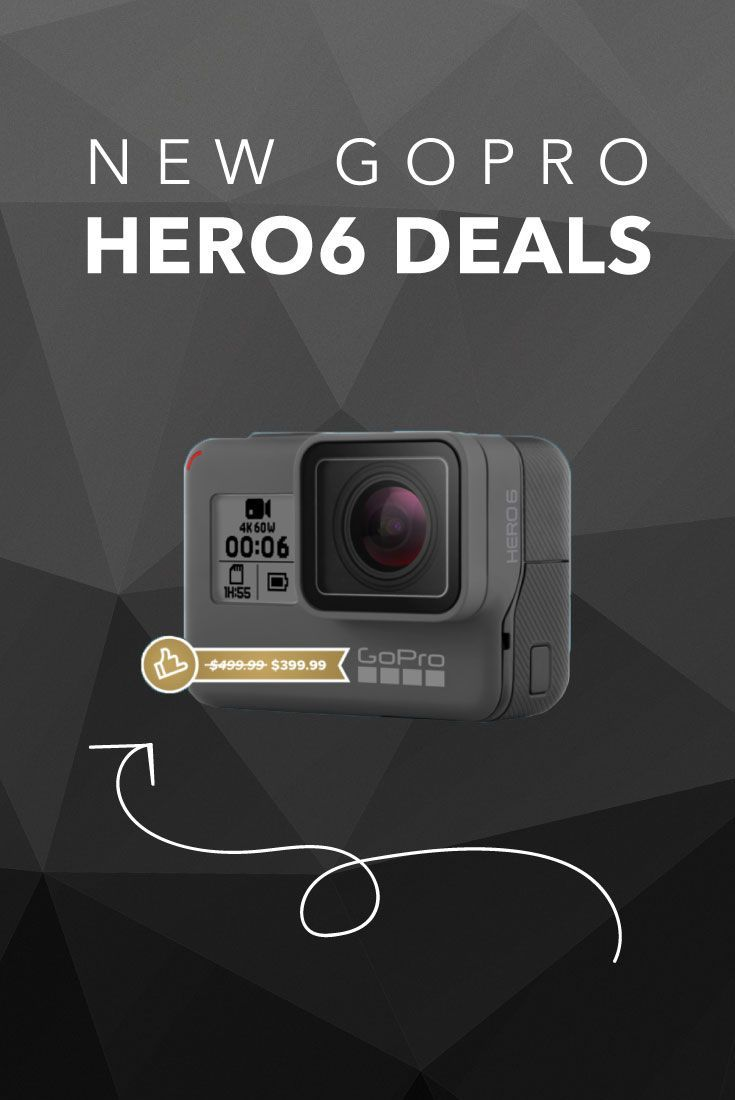 These GoPro Hero 6 Deals make the Hero6 $400 instead of $500, making it the lowest price on the Hero6, ever.