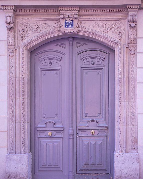Paris Photography  Lavender Door Architectural by Georgianna Lane