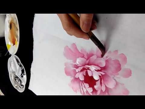 Chinese Brush Flowers Painting Techniques #2 - YouTube