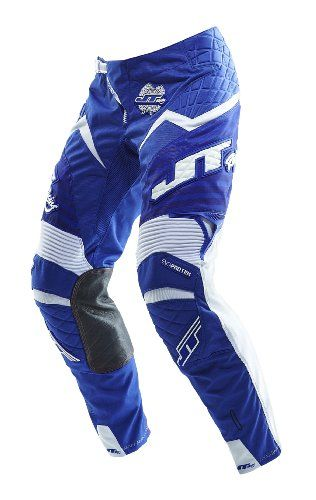 JT Racing USA Evolve Protek Dirt Bike MX Motocross Pants with Fader Graphics (Blue/White, Size 30). For product info go to:  https://www.caraccessoriesonlinemarket.com/jt-racing-usa-evolve-protek-dirt-bike-mx-motocross-pants-with-fader-graphics-bluewhite-size-30/