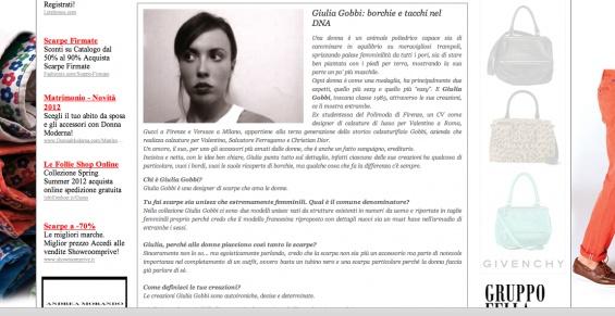 GIULIAGOBBI interview on www.shoppingmap.it