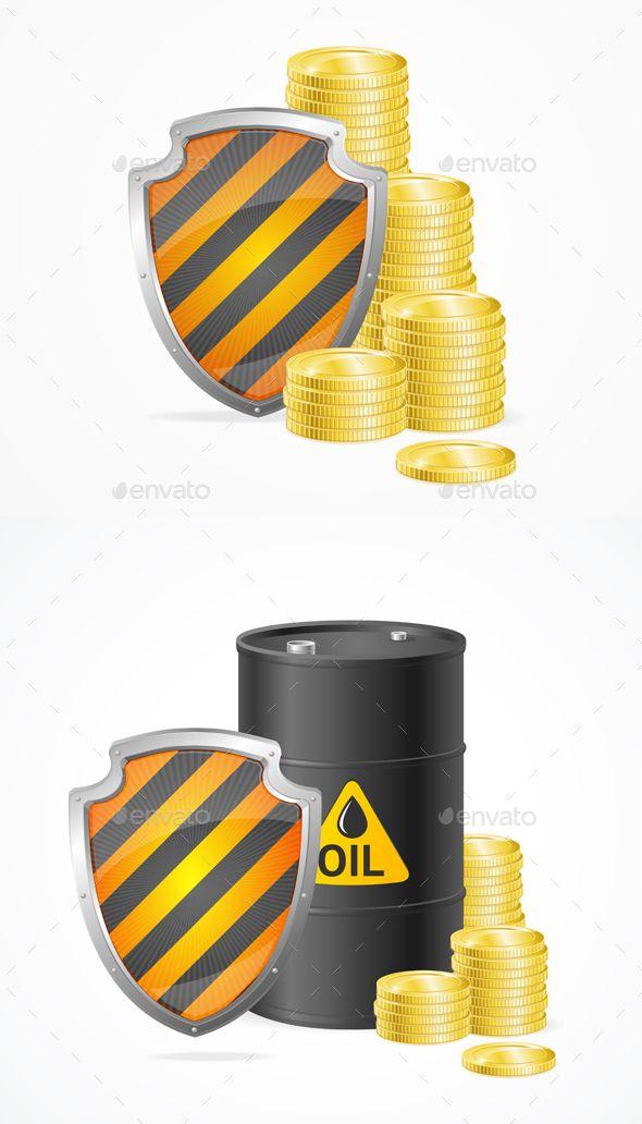Oil Barrel Price Safety Concept