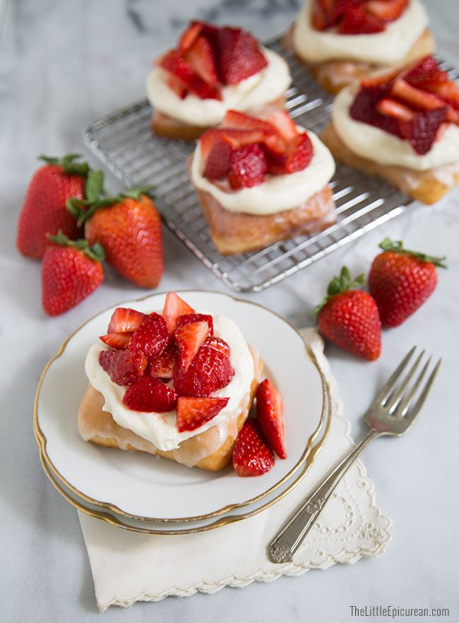 Strawberry Shortcake Doughnuts (The Little Epicurean)