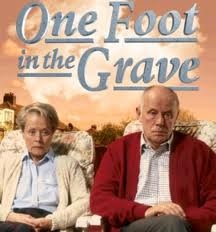 """One Foot In The Grave"" Margaret and Victor- the perfect couple.  This is one of the best tv shows ever!  I <3 Victor Meldrew!!"