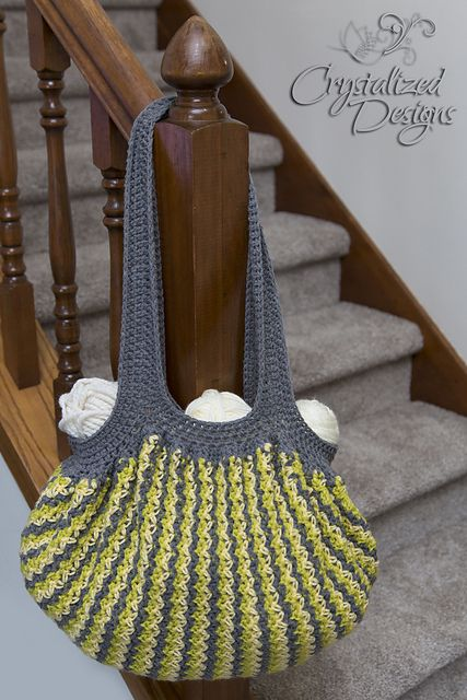 Ravelry: Bountiful Boho Bag pattern by Crystalized Designs