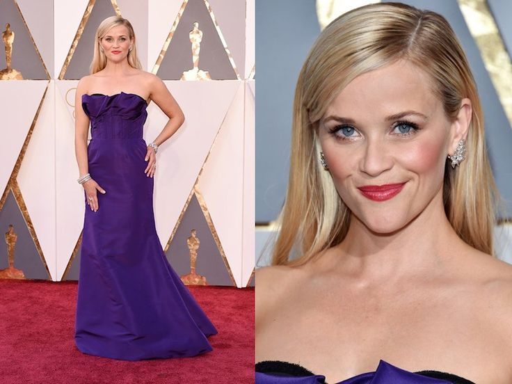 purple dress and makeup