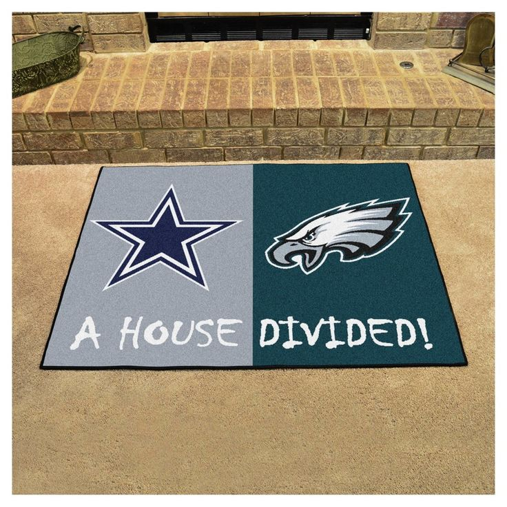Feizy Rugs NFL Philadelphia Eagles Dallas Cowboys House Divided Rug x