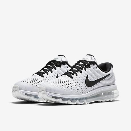 Wholesale Nike Air Max 2017 Grey Black Sports Running Sneakers Shop - $70.89