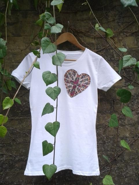 woody and blue   Say I♥U with a heart or owls eco t-shirt