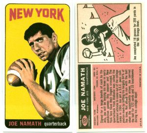 joe namath rookie card #nfl #jets #sportscard