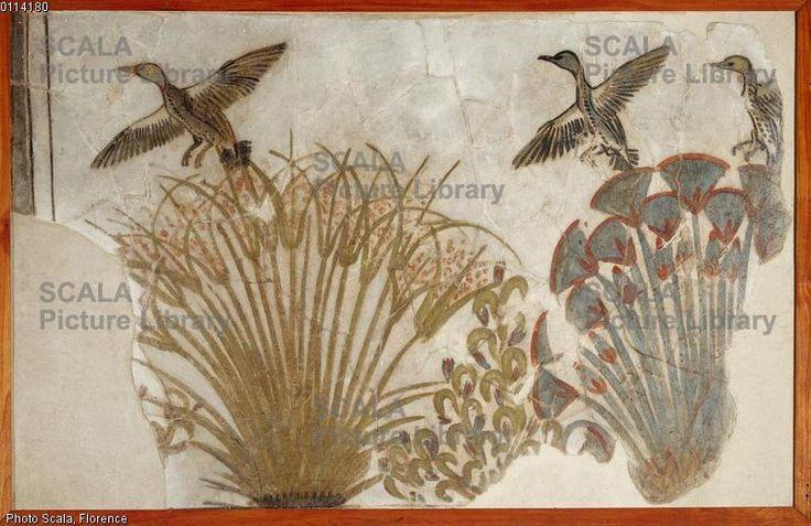 Arte egizia Anatre in una palude di papiri, da Tell el-Amarna