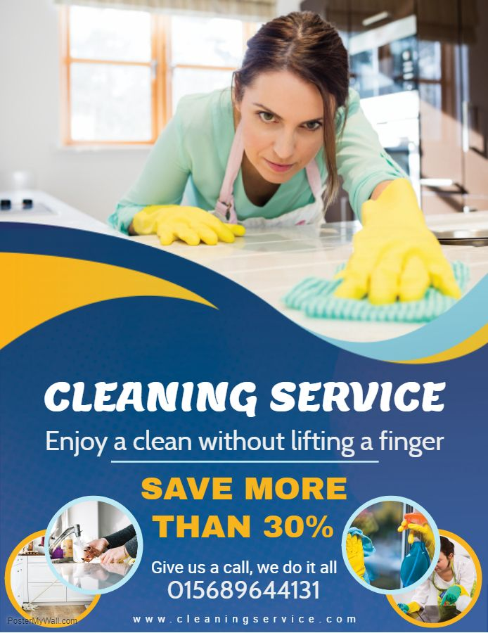 Home cleaning service advertisement flyer sample Cleaning Service