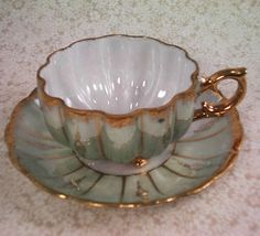 Vintage Royal Sealy China Co Footed Tea Cup with Mother of Pearl and Saucer | eBay