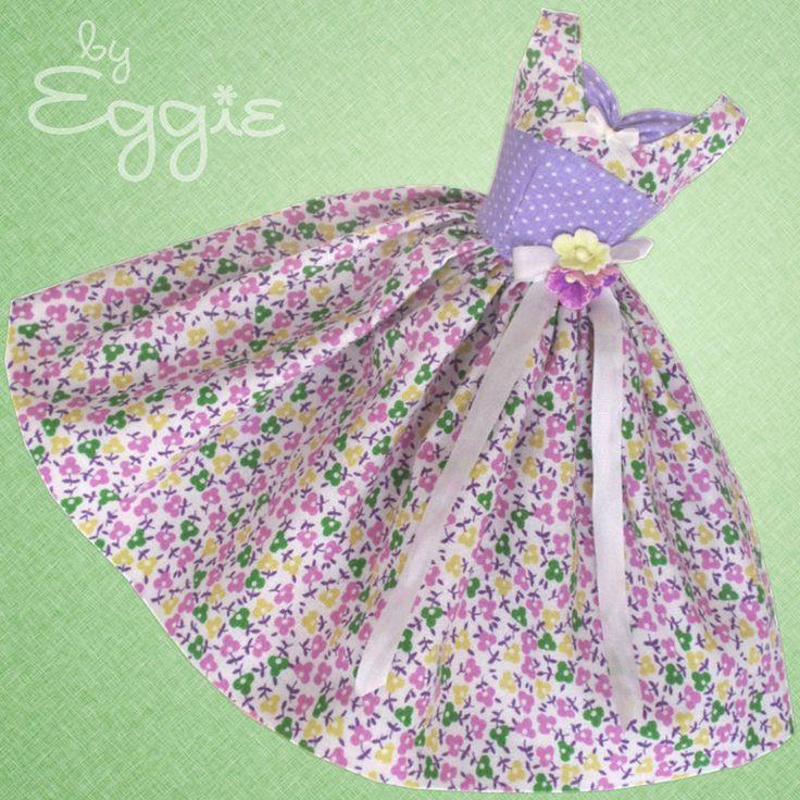 Spring Violets- Vintage Reproduction Barbie Doll Dress Clothes Fashions #Fanfare