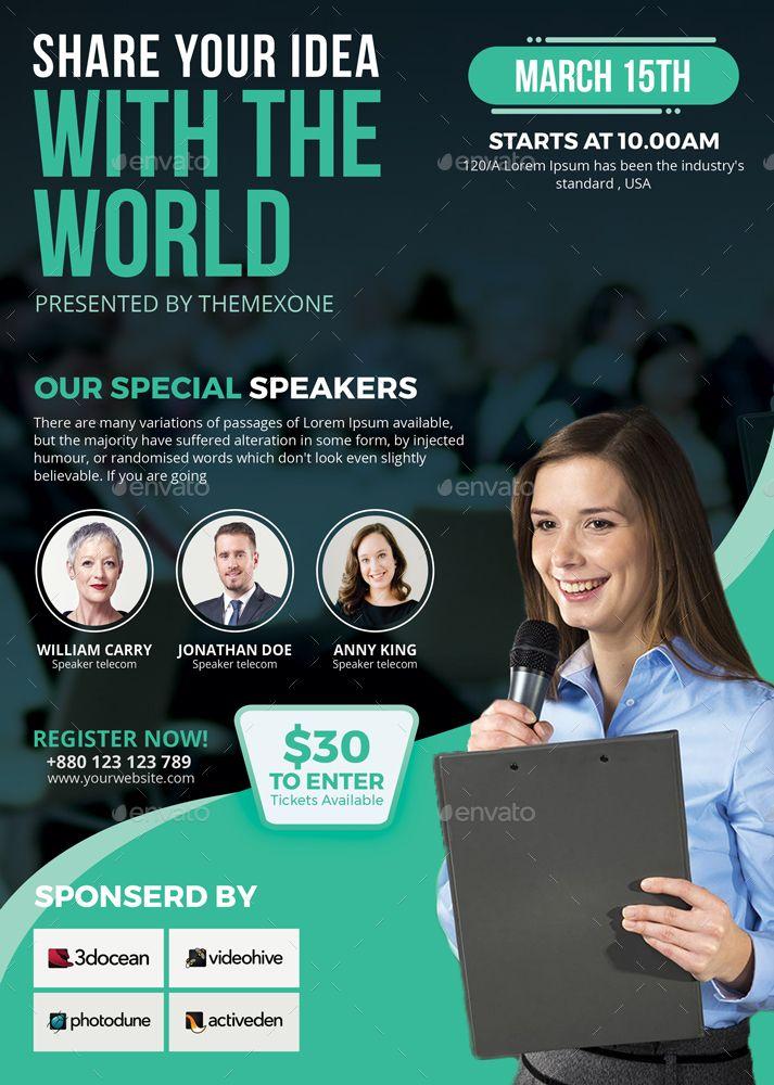 Event Speaker Flyer