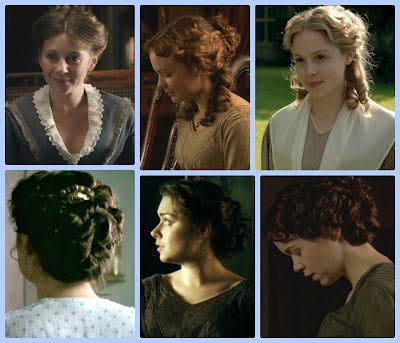 Hair for wedding, Margaret Hale, North and South.
