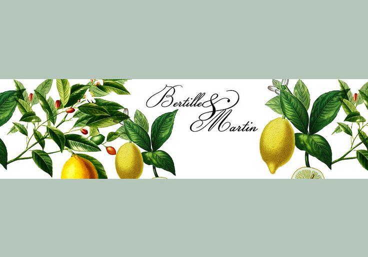 """Faire-part MARIAGE EN PROVENCE modèle """"Citron"""", nouveauté sur WWW.ILOVEYOUPAPER.COM"""