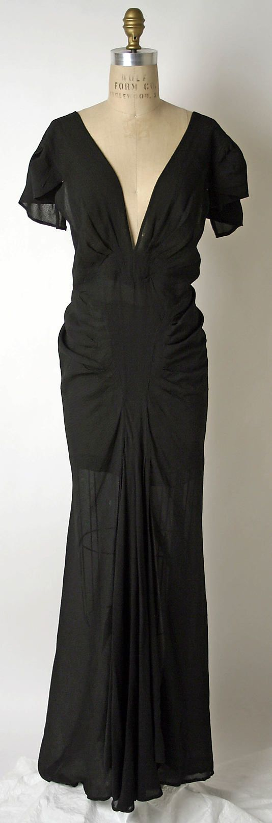 Evening dress House of Patou  (French, founded 1919) Designer: Jean Patou (French, 1887–1936) Date: ca. 1937 (front view) #1930s