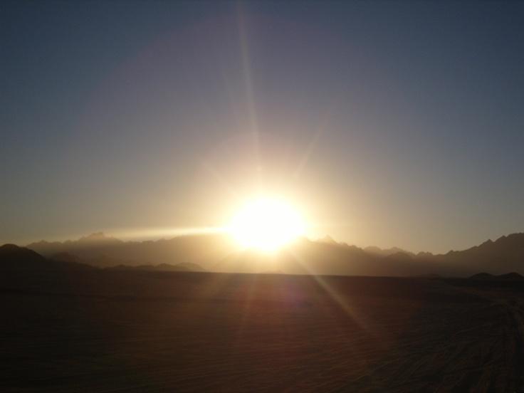 Mountain sunset. Egypt.