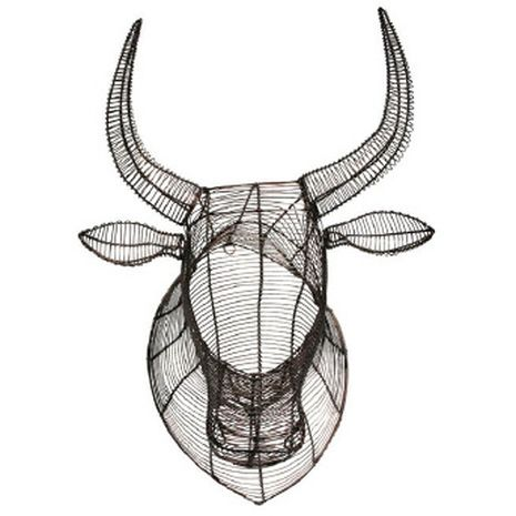 Wire Nguni cow head, Streetwires
