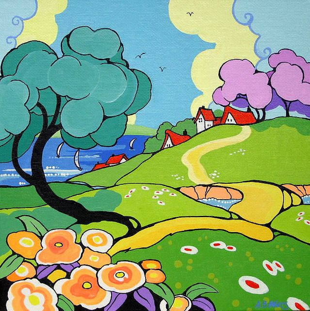 Seaside View Ode to Clarice Cliff Series